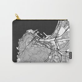 Cape Town Map Gray Carry-All Pouch