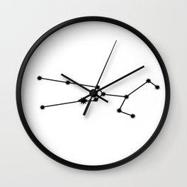 Taurus Star Sign Black & White Wall Clock