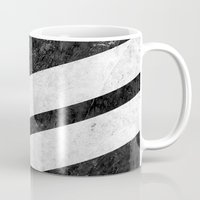 Black Striped Marble Mug
