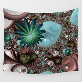 Tropical Trails Fractal Wall Tapestry