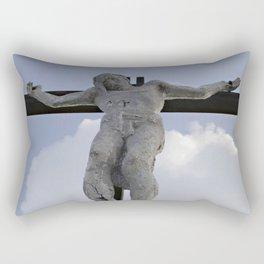 Jesus Christ statue low angle horizontal Rectangular Pillow