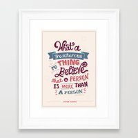 paper towns Framed Art Prints featuring Paper Towns: Treacherous Thing by Risa Rodil