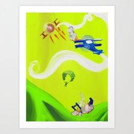 Aerial Battle Art Print
