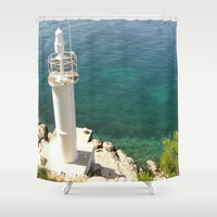 lighthouse Shower Curtains featuring Lighthouse by Bitifoto