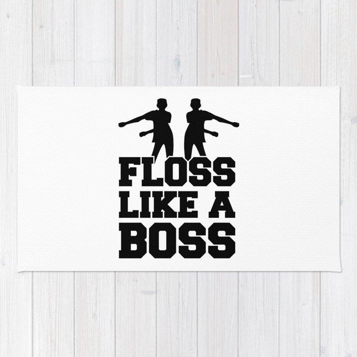 Floss Dance Black Boss Rug