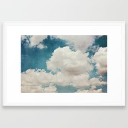 January Clouds Framed Art Print