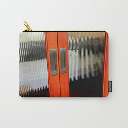 Ribbed Glass Doors - A Half Made Bed Carry-All Pouch