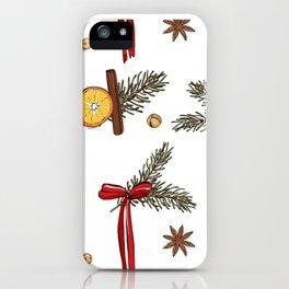 Christmas oranges iPhone Case