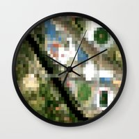 melbourne Wall Clocks featuring Melbourne by Mark John Grant