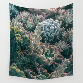 Mornings In The Succulent Garden #1 Wall Tapestry