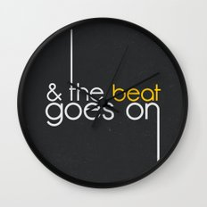 & The Beat Goes On Wall Clock