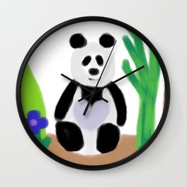 It's a Panda's World of Love Wall Clock