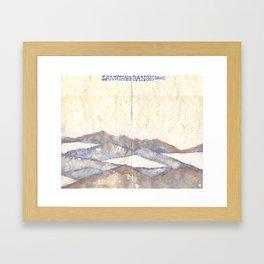 Tantric 7 (Travel Journal Entry) Framed Art Print