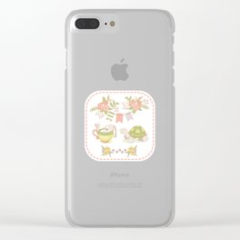 Hare and Tortoise -frame- Clear iPhone Case