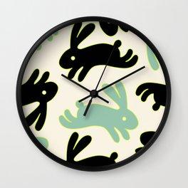 Bunny Honey Wall Clock