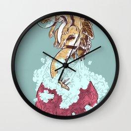 Space Stegosaurus  Wall Clock