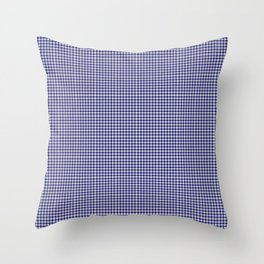 Midnight Blue Gingham Throw Pillow