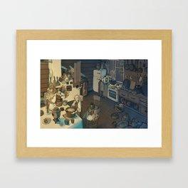 Babushka Yaga's Kitchen Framed Art Print