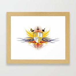 Yellow Jacket Fencing Club Classic Framed Art Print