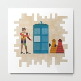 ancient doctors and daleks oh my! Metal Print