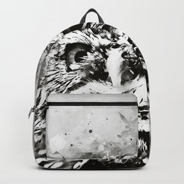 owl portrait 5 wsbw Backpack