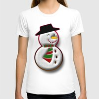 snowman T-shirts featuring Snowman by Gaspar Avila