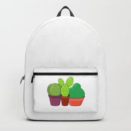 Colorful family of cacti. Backpack