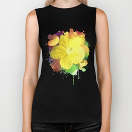 Secret Garden | Cucumber flower Biker Tank