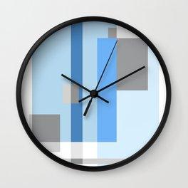 Color Harmony Blue Wall Clock