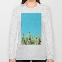 Desert Cactus Reaching for the Blue Sky Long Sleeve T-shirt