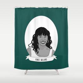 Venus Williams Illustrated Portrait Shower Curtain