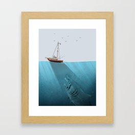 We're Gonna Need a Bigger Boat Framed Art Print