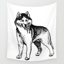 Siberian Husky Wall Tapestry