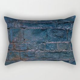 Middle evo wall made with blocks of stone. Rectangular Pillow