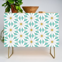 Daisy Hex - Turquoise Credenza