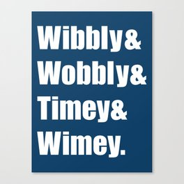 Wibbly Wobbly Ampersand Canvas Print