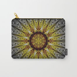 Beautiful Symmetrical fractal mandala, flower or circle, digital artwork for creative graphic design Carry-All Pouch