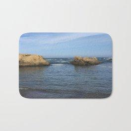 Fort Bragg ocean with rocks Bath Mat