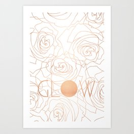 Glow Rose Gold Art Print