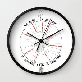 The Heart Is An Arrow Wall Clock