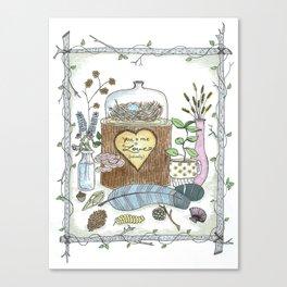 Love, Naturally Canvas Print