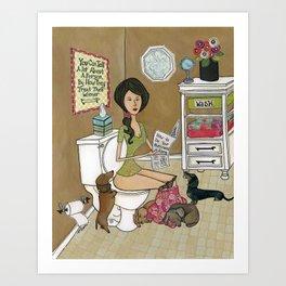 Treat Your Wiener Good Art Print