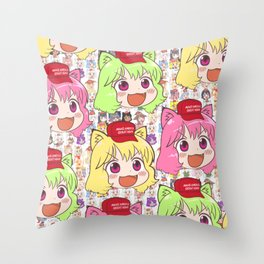 super cute anime all over manga!! kawaii desu ne!! Throw Pillow