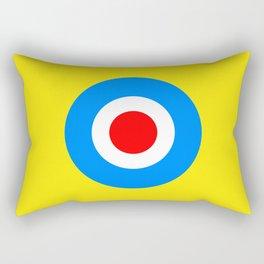 Abstract Pop Yellow Rectangular Pillow