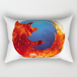 The Fire Fox Rectangular Pillow