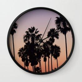 VENICE BEACH palms Wall Clock