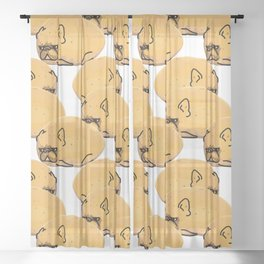 Frenchie Potato Sheer Curtain