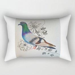 Pigeon and Plants Rectangular Pillow