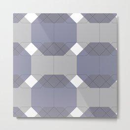 Blue Octagons Metal Print