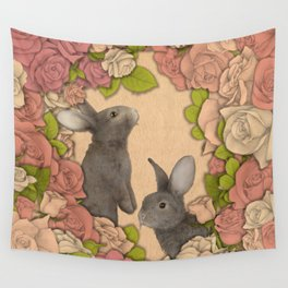 Rosie Rabbits Wall Tapestry